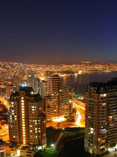 Viña del Mar de noche #VinadelMar #Chile #Night #Lights