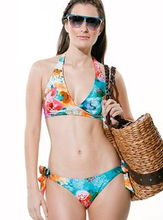 3248a26ccdb Hawaiian Halter Two Piece Bikini - In these summer vacations be  irresistibly desired wearing this two piece halter bikini. Have everybody s  attention and ...