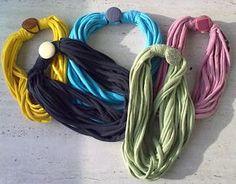 #TUTORIAL How to make a t-shirt #scarf - Come realizzare una sciarpa da una maglietta #handmade