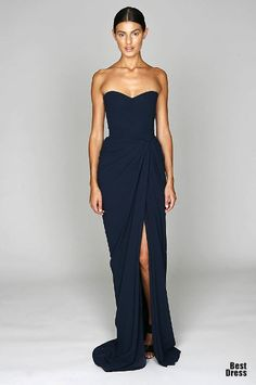 Like this dress by Monique Lhuillier!! Simple and neat!! Would look great in another colour!! bridesmaid dress, 2015 bridesmaid dresses