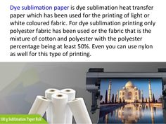 Dye Sublimation Paper roll for Polyster Garment