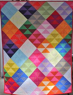 Daniel's quilt by Charlotte - Modern Day Quilts. interesting color arrangement