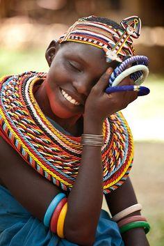 Young dancer of the Samburu, Kenya
