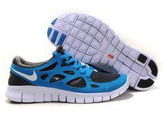 Nike Free Run 2 Blue Grey White Women's Shoes cheap nike shoes