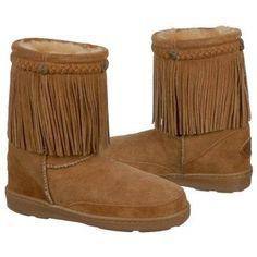 Minnetonka Moccasin Fringe Pug Boot Boots (Golden Tan) - Women's Boots - 11.0 M