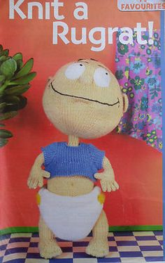Alan Dart Toy Tommy Baby Rugrat RUGRATS Knitting Pattern  in DK