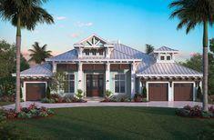 Long Boat Key - Coastal Home Plans Florida House Plans, Coastal House Plans, Beach House Plans, Beach House Decor, House Floor Plans, Beach Houses, Coastal Bedrooms, Coastal Homes, Modern Bedrooms