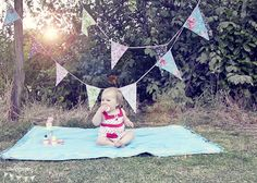 little E- blanket and pennant bunting!?