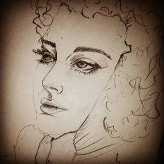 Woman face sketch