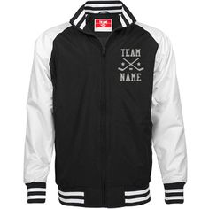 Personalized Ice Hockey Coach Unisex Team Jacket | Available in other styles & colors.