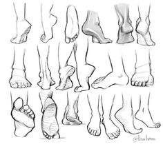 feet references - drawing - foot - ankle - anatomy - drawing tutorial You ar. Anatomy Sketches, Anatomy Drawing, Anatomy Art, Art Drawings Sketches, Easy Drawings, Drawings Of Hands, Human Anatomy, Anatomy Organs, Heart Anatomy
