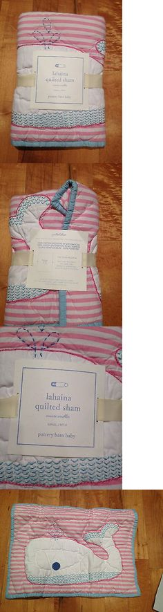 Pillowcases and Shams 124327: New Pottery Barn Kids Girls Lahaina Surf Whale Quilted Crib Sham Toddler Nursery -> BUY IT NOW ONLY: $49 on eBay!