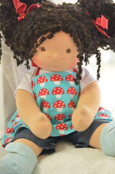 Pixie, a Sitting Doll by Bamboletta Dolls Doll Crafts, Diy Doll, Doll Clothes Patterns, Doll Patterns, Homemade Dolls, Baby Doll Accessories, Bear Doll, Sewing Dolls, Waldorf Dolls