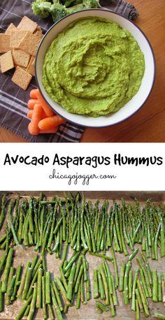 Avocado Asparagus Hummus - a healthy appetizer recipe that's perfect for spring   chicagojogger.com
