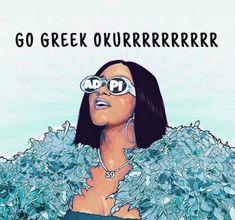 Kappa Kappa Gamma, Kappa Alpha Theta, Alpha Chi Omega, Cardi B, Go Greek, Greek Life, Tri Delta, Sorority Crafts, Sorority Life