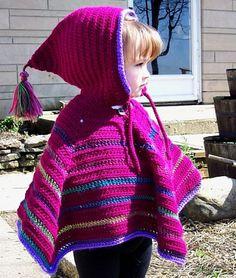 Crochet For Children: Toddler Hooded Poncho - Free Pattern