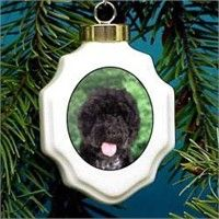 Portuguese Water Dog Christmas Ornament Porcelain: Nothing beats the exceptional look and quality of… #PetProducts #PetGifts #AnimalJewelry