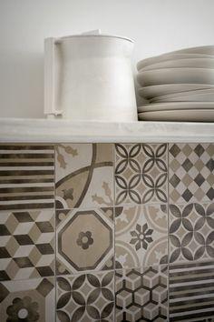 Rivestimenti, piastrelle e pavimenti Marazzi - linea Block - piastrelle per la cucina #interior #design