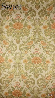 Textiellook bloemenbehang | Swiet