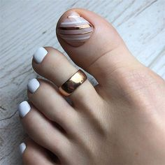 42 Trending Toe Nail Art Designs To Try In 2020 Spring And Summer Toe Nail Designs Toenail design is Toe Nail Color, Toe Nail Art, Nail Colors, Acrylic Nails, Nail Nail, Pretty Toe Nails, Cute Toe Nails, Gel Toe Nails, Gel Toes