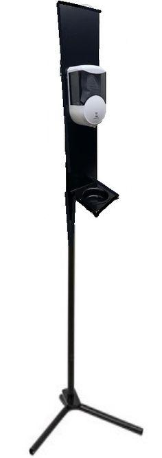 T779050-DIS Totem in acciaio con piatto salvagoccia e distributore elettonico