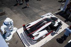 White Koenigsegg One:1 top view at Monterey Motorsport Reunion. #cars #koenigsegg #one1 #megacar