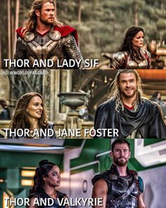 Who do you ship Thor with? Lady Sif, Jane, or Valkyrie? Marvel Couples, Marvel Girls, Marvel X, Disney Marvel, Marvel Funny, Marvel Memes, Thor Legend, Loki Meme, Avengers