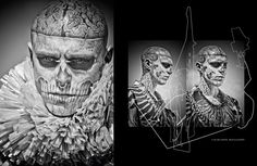 Rick Genest photographed by Zee Nunes  and styled by Daniel Ueda for FFW magazine.
