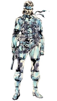 Solid Snake artwork from Metal Gear Solid 2