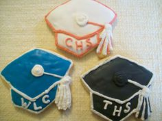 5 Mortar Board Graduation Cookies by KimsCountryCorner on Etsy, $55.00