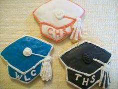 5 Mortar Board Graduation Cookies by KimsCountryCorner on Etsy, $55.00
