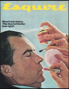 Portada de la revista americana Esquire en mayo de 1968, dedicada a Nixon.