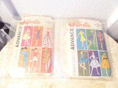 $20 free shipping!! 1961 USA Lot ADVANCE Mattel Barbie Teen Fashion Doll Clothing 12 Patterns Dress #Advance #Mattel #barbie #teenage #fashion #doll #clothing #dresses #skirts #dolls #usa #paper #sewing #patterns #vintage #1960s #ebay #rare #ebay #funkythrift