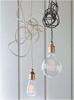 Twisted Flex & Copper Pendant Light Set: Remodelista