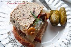 Pasztet drobiowy z suszonymi grzybami Easter Recipes, Easter Food, Polish Recipes, Polish Food, Poland, Banana Bread, Sandwiches, Dinner, Cooking
