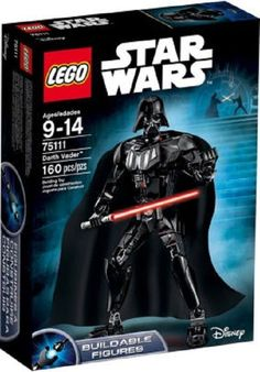STAR-WARS-LEGO-SET-SITH-LORD-DARTH-VADER-160 PC-BUILD-POSABLE-FIGURE-MODEL-11 IN