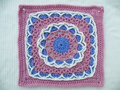 "Anticipation Mystery Afghan 12"" block by Margaret MacInnis"