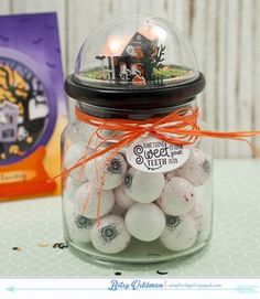 Spook Manor Eyeball Jar by Betsy Veldman for Papertrey Ink (August 2015)