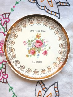 blu plate special time to shine by BlondieBlu on Etsy