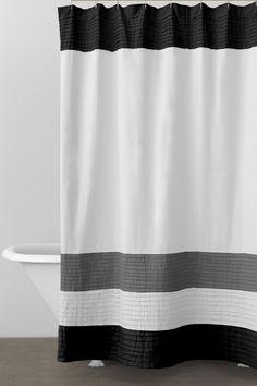 DKNY Color Block Fabric Shower Curtain / DonnaKaranHome.com