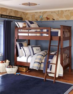 Explorer bedroom, maybe with large antiqued world map and compass for little dude's more big boy room