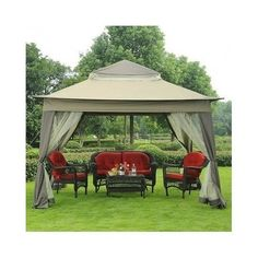 Outdoor Gazebo With Netting Canopy Portable Backyard Pergola Garden Patio Bbq #Sunjoy