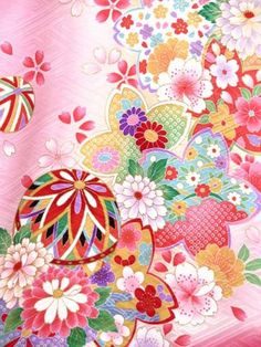 Japanese Flowers, Japanese Paper, Japanese Fabric, Japanese Textiles, Japanese Patterns, Japanese Design, Floral Pattern Wallpaper, Flower Background Wallpaper, Fabric Patterns