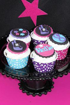 Cupcakes at a Rockstar Party #rockstar #partycupcakes