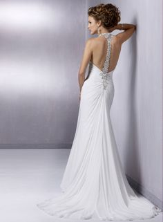 'Reese' by Maggie Sottero - chiffon open back wedding dress