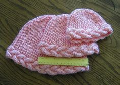 Ravelry: Braid-Edged Cap pattern by Judy Gibson