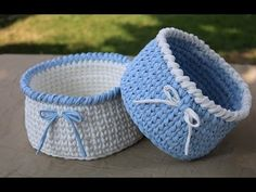 YouTube Crochet Basket Tutorial, Beginner Crochet Tutorial, Crochet Basket Pattern, Knit Basket, Crochet Storage, Crochet Box, Crochet Edging Patterns, Crochet Patterns Amigurumi, Crochet Patron