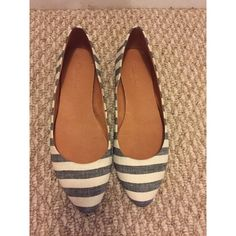Madewell striped flats Worn only a few times to work Madewell Shoes Flats & Loafers