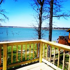 All our waterfront cabins have deck areas to enjoy Lake Fork from!  Reserve yours now at www.PopesLanding.com!