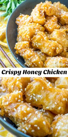 Asian Style Crispy Honey Chicken – 4 Sons 'R' Us You don't need to go out, to satisfy your cravings for crispy chicken tossed in a savory Asian American sauce. This Asian Style Crispy. Honey Sauce For Chicken, Chinese Honey Chicken, Crispy Honey Chicken, Spicy Fried Chicken, Asian Chicken, Chinese Food Recipes Chicken, Chinese Meals, Easy Chinese Recipes, Sauce Americaine